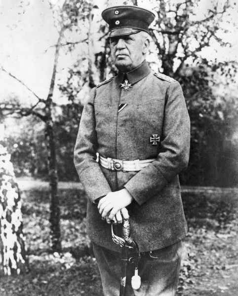 General Max von Boehn, in command of the German 7th Army at the Second Battle of the Aisne in spring 1917 during World War One. Date: 1917