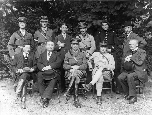 Generals and others of various European allied nations, in a group photograph taken at the end of the First World War. Date: circa 1918