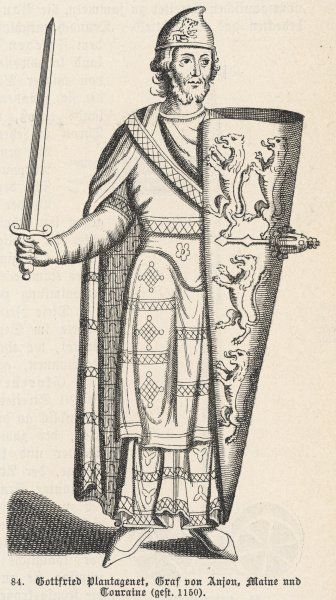 GEOFFREY PLANTAGENET, COUNT OF ANJOU Father of Henry II of England, and founder with his wife, Matilda, daughter of Henry I, of royal house of Plantagenet