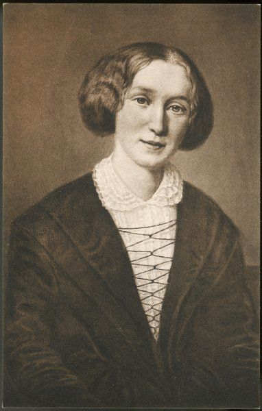 GEORGE ELIOT nee Mary Ann Cross, later Evans. Writer, painted in 1849 - her most appealing portrait