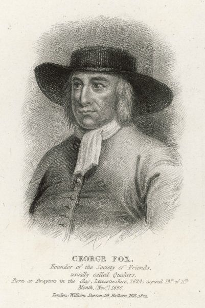 George Fox, English Dissenter, founder of the Religious Society of Friends, commonly referred to as Quakers or Friends