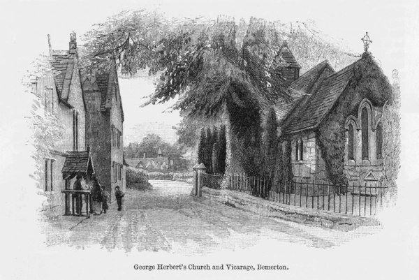 GEORGE HERBERT Church and vicarage at Bemerton of the Metaphysical poet and clergyman Date: 1593 - 1633