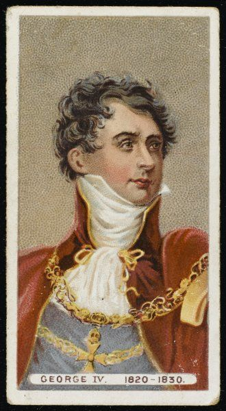 GEORGE IV OF ENGLAND looking rather dashing Date: 1762 - 1830