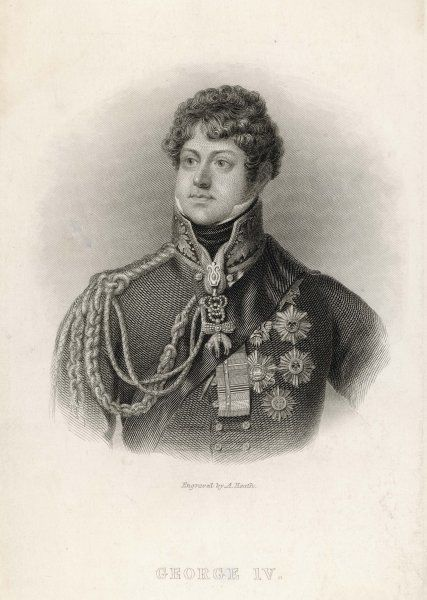 KING GEORGE IV OF ENGLAND Reigned 1820 - 1830