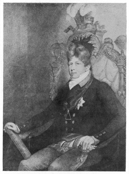 GEORGE IV in the regalia of Grand Master of Freemasons