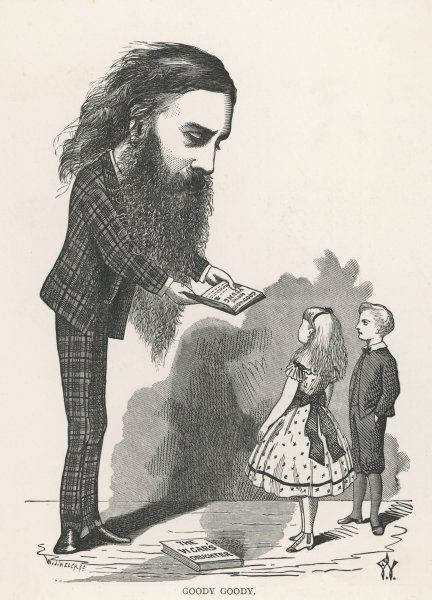A cartoon depiction of George MacDonald, Scottish author, poet and Christian minister. His books for children were very popular