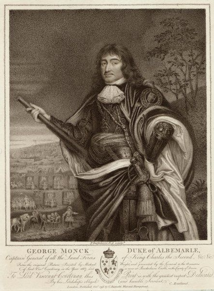 GEORGE MONCK, duke of Albemarle 'Captaine Generall of all his Majesties Land forces&#39