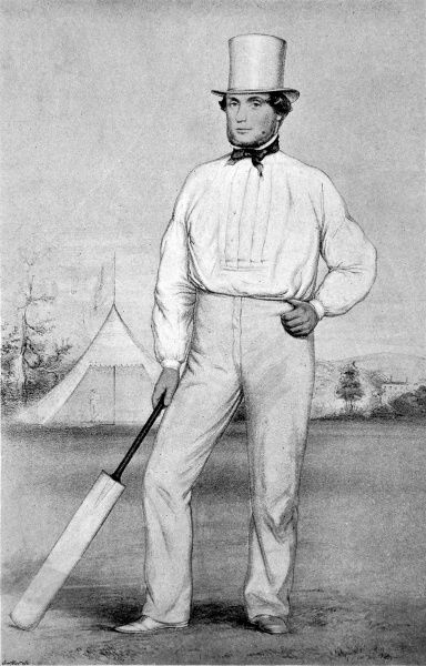 Illustration of George Parr (1826-1891), the cricketer who represented Nottinghamshire, Surrey, Sussex, Kent and the MCC between 1844 and 1870. He was one of the finest cricketers of his day, scoring over 6000 runs in 207 first-class matches