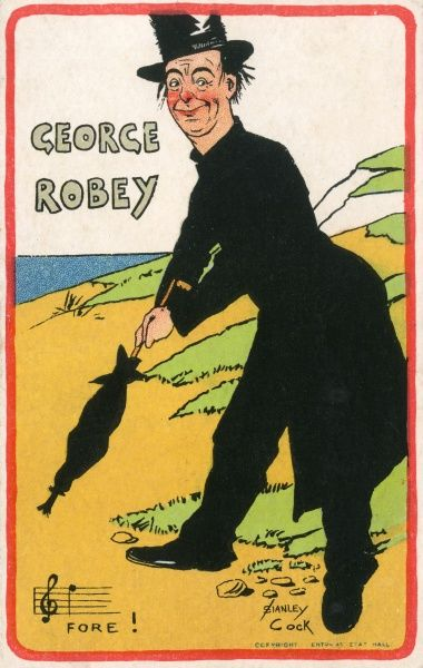 GEORGE ROBEY Music hall entertainer Date: 1906