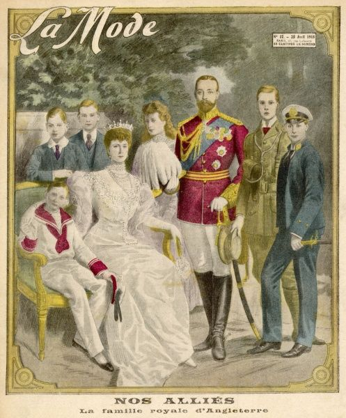 GEORGE V and his family during World War One