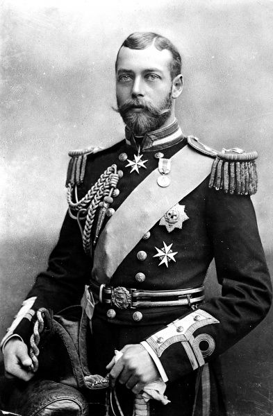George V in naval uniform. Undated