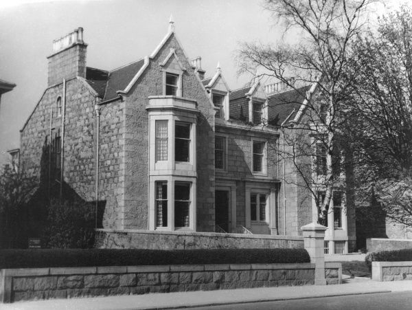 This fine house, in Queen's Road, Aberdeen, Scotland, is the King George VI Memorial Hostel, belonging to the Scottish Youth Hostel's Association (opened 1957). Date: late 1950s