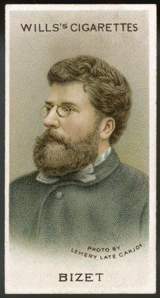 GEORGES BIZET Portrait of the French composer