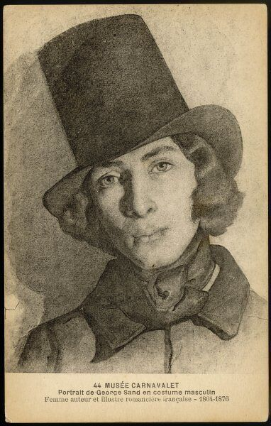 GEORGES SAND alias AURORE DUDEVANT French writer dressed as a man