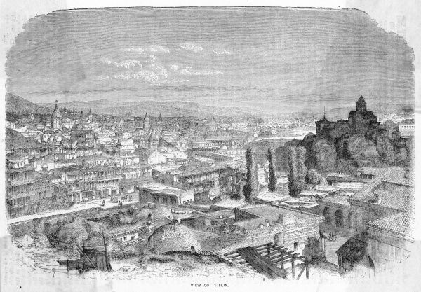 General view : Tiflis on the Kura River is now known as Tbilisi