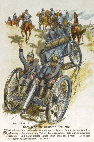 German Artillery on Manoeuvres Date: 1905