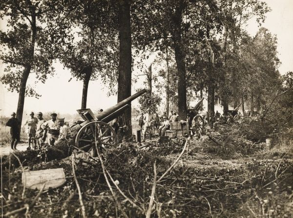 German 10cm Kanone 17 placed during World War I