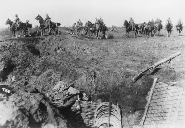 German breakthrough on the Western Front in France during World War I in 1918