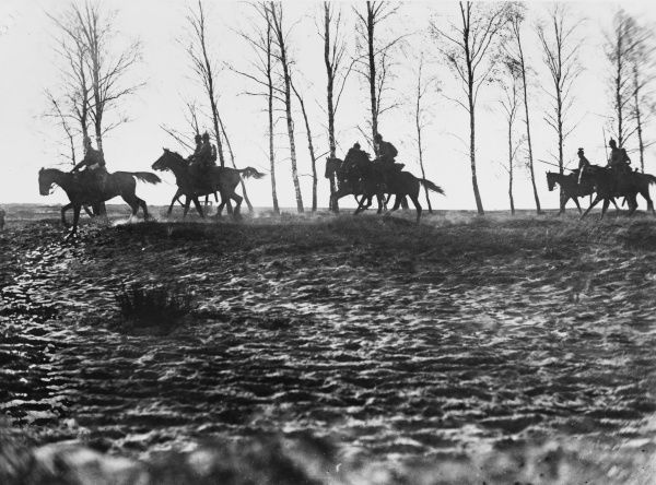 A German cavalry patrol, somewhere in East Prussia on the Eastern Front