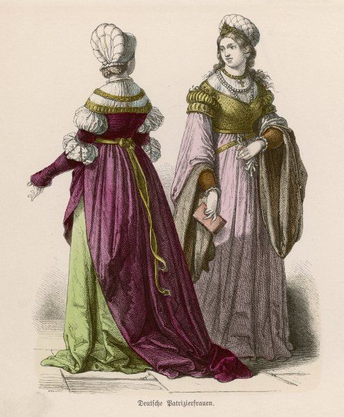 Some examples of clothing worn by German noblewomen at the beginning of the 16th century