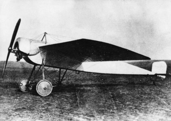 A German Fokker monoplane (possibly an M5), 80 hp with an Oberursel engine, in service for reconnaissance during the First World War. Date: 1914-1918