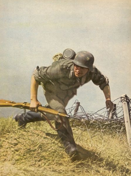 A German foot-soldier on the attack