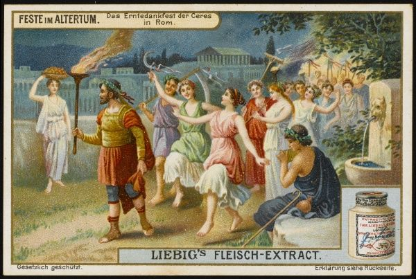 Harvest festival dedicated to the goddess Ceres, in ancient Germany