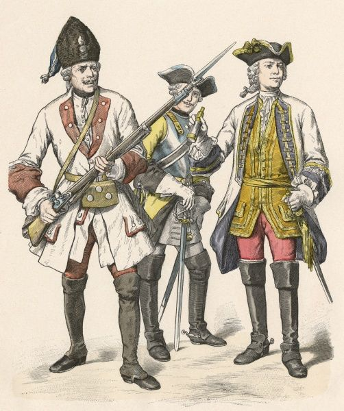 GERMAN Grenadier, Cuirassier and General of Wurttemberg Date: circa 1730