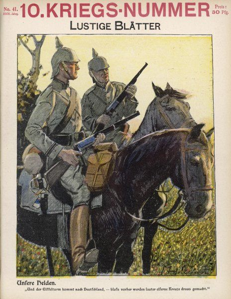 German mounted riflemen