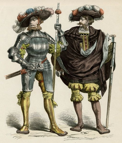 German Captain & Lietenant Date: circa 1515