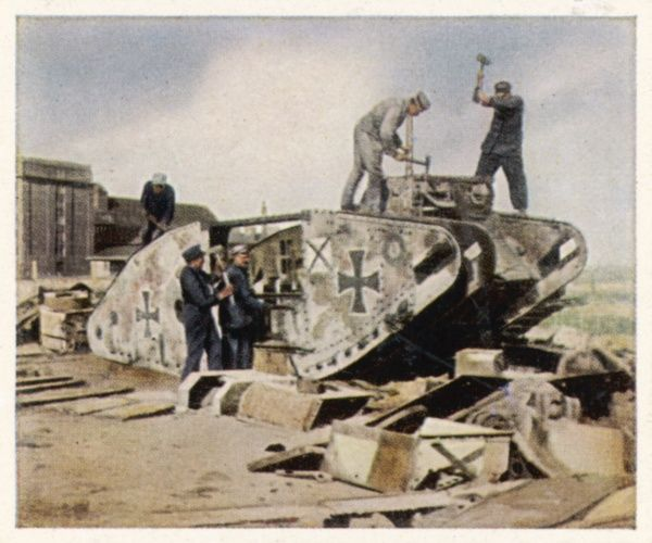 German tanks recycled in compliance with the treaty of Versailles