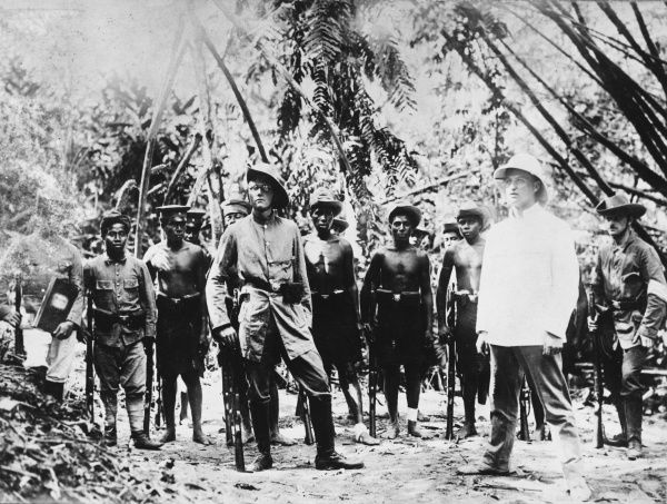 Native troops being trained by German reservists in New Guinea during World War I