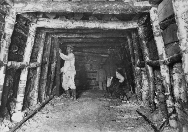 German tunellers during World War I