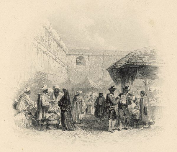 The market place. Date: 1844