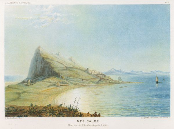 A general view of the rock of Gibraltar