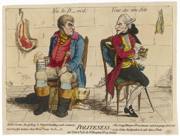 'Politeness' The state of Anglo-French relations played out by John Bull and his French counterpart