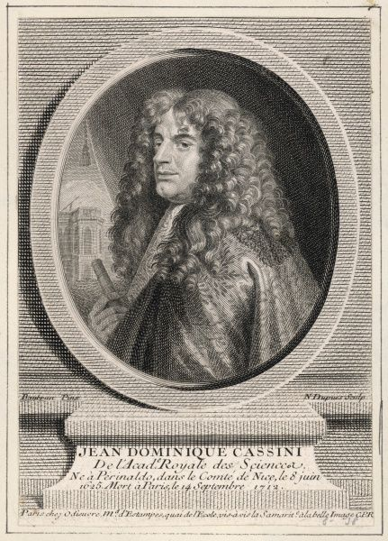 GIOVANNI DOMENICO CASSINI later Jean-Dominique, first Director of the Paris Observatory, who discovered four of Saturn's moons between 1671 and 1684