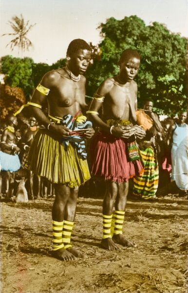 Women of the Giriama Tribe in Kenya at a traditional dancing ceremony