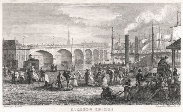 Glasgow: view of the bridge from the harbour