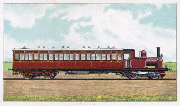Motor carriage, comprising locomotive and coach in a single unit, of the Glasgow and South Western Railway