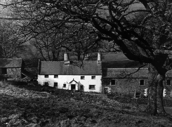 Glencoyne Farm, dating from 1629, at Ullswater, on the boundary of Westmorland with Cumberland (Cumbria), England. Date: 17th century