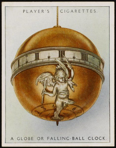 Globe or falling-ball clock by Jacob Beham of Vienna, now in the British Museum, London