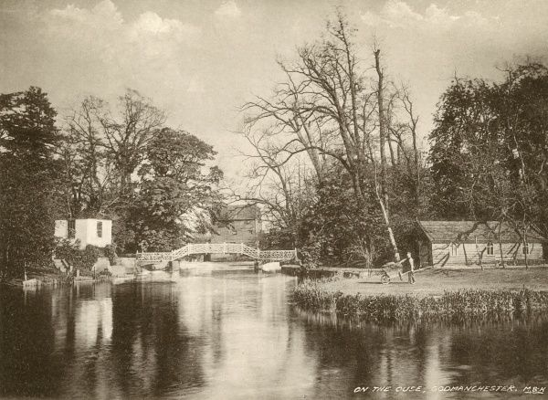 View on the Ouse at Godmanchester, Cambridgeshire Date: 1890s
