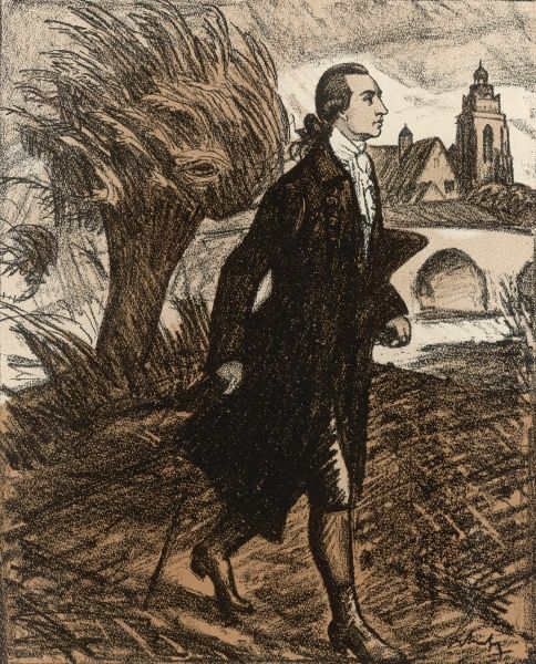 JOHANN WOLFGANG VON GOETHE depicted at the age of 23, at Wetzlar