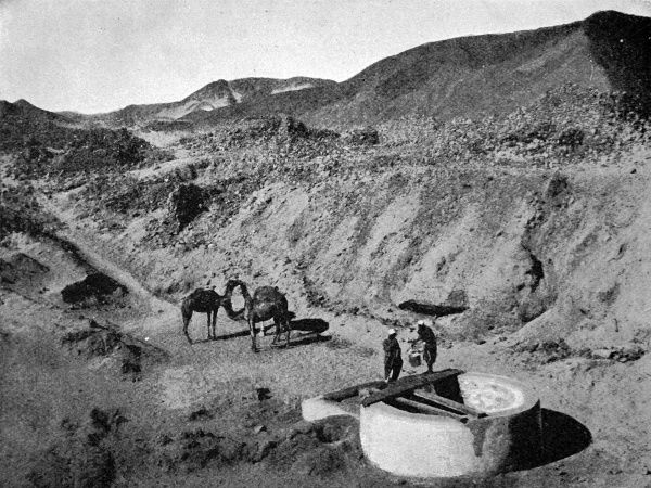 Photograph of ancient egyptian diggings for gold