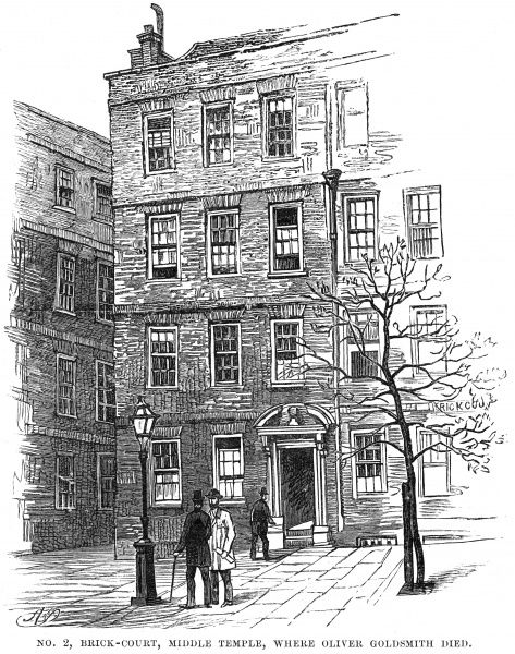 OLIVER GOLDSMITH 2 Brick Court, Middle Temple, where the Irish writer died Date: 1730 - 1774