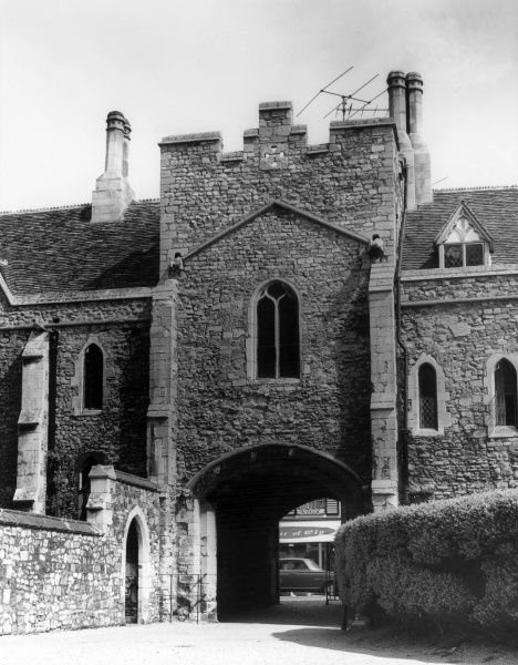 Goldsmith's Tower, Ely, Cambridgeshire, England, along with the Sacrist's Gate, formed the Sacristy, built in 1325. Date: 14th century