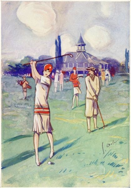 Elegant golfers enjoy a round at Vichy