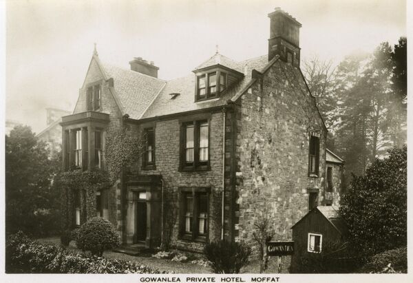 Gowanlea Private Hotel, Moffat, Dumfries and Galloway. Date: circa 1910s
