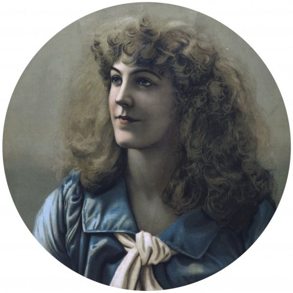 An idealised late Victorian portrait of Grace Darling, who rowed out with her lightkeeper father to save nine from the wrecked Forfarshire steamer